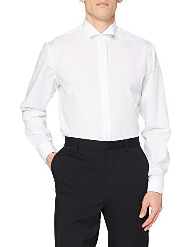 Seidensticker Herren Slim Fit Businesshemd George Party 021008, Weiß (weiss), 37 (Herstellergröße: 37)