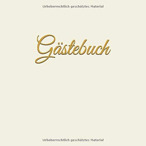 Gästebuch: Gäste Buch, Hochzeit, blanko Buch mit creme farbenen Seiten, 120 Seiten mit kleinen Herzen, goldene Hochzeit, Hochzeitsgästebuch, quadratisch, 21,59 x 21,59 cm, 8,5 x 8,5 Zoll