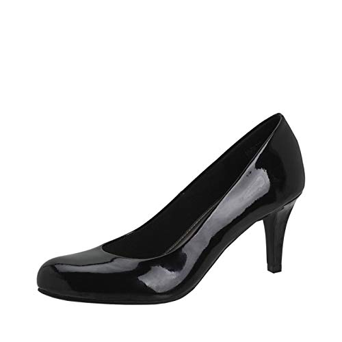 Predictions Comfort Plus Women's Karmen Pump 8 Black Patent