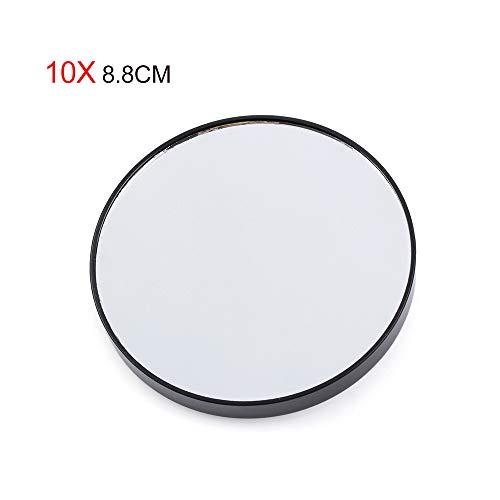 Vergrootglas Spiegel Make-up, Acne Pores Zwart Cosmetica Tool Twee Zuignappen 5/10X Vergrootspiegel Make-up Spiegel Rond 10X 8.8CM Zwart