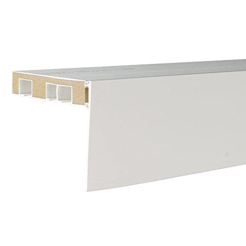 Liedeco Aufklipsblende Aufsteckblende für Gardinenschiene 5 cm/ 7,5 cm weiß (weiß, 75 mm)