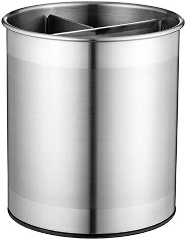 Extra Large Stainless Steel Kitchen Utensil Holder 360 Rotating Utensil Caddy Weighted Base product image