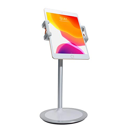 CTA Digital Suporte para tablet e smartphones/Apple iPhone 11, Pro, iPad 10,2 polegadas (7ª geração), iPad Mini 5, iPad Air 3 e mais (branco), 15 polegadas x 21,3 cm x 4,1 polegadas, modelo: PAD-HADTS