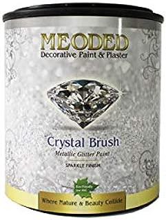 Meoded Paint and Plaster | Crystal Brush Glitter Paint | CB400 Gold Base | Glitter Paint for Walls| 1 Quart