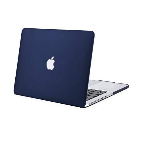 MOSISO Hülle Kompatibel mit MacBook Pro Retina 13 - Plastik Hartschale Hülle Kompatibel mit Ältere Version MacBook Pro Retina 13 Zoll (Modell: A1502 und A1425) (Release 2015 - Ende 2012), Navy Blau
