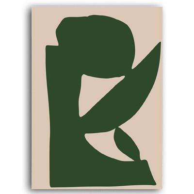 Retro abstracto Matisse dibujo lineal lienzo minimalista muebles para el hogar pintura decorativa sin marco A 20x30cm