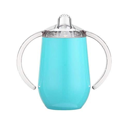 HCC&WHZ Taza de acero inoxidable para bebé con asa de doble capa aislada al vacío taza de entrenamiento de agua para niños 05