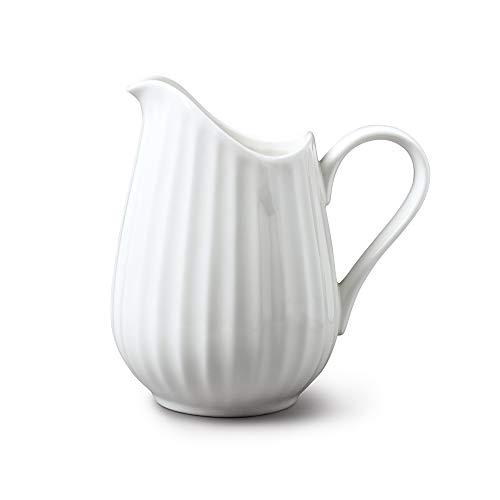 WM Bartleet und Sons 1750 T456 Porzellankrug, traditionell, geriffelt, 350 ml, Weiß