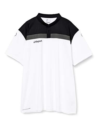 uhlsport Herren Poloshirt Offense 23 Polo Shirt, Weiß/Schwarz/Anthra, 5XL, 100221302