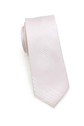 Puccini PUCCINI schmale Krawatte?6cm skinny slim Tie, Binder, Schlips?einfarbiges modernes, trendiges Muster in Rosa (Pink)
