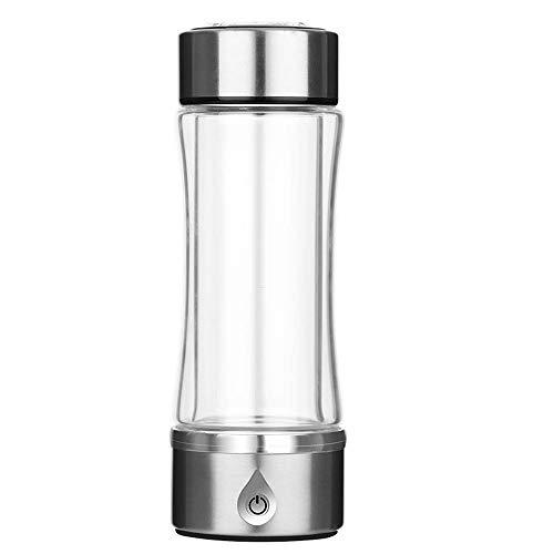Tragbare Wasserstoff-Wasser-Ionisierer-Flaschenhersteller-Generator-Wasserstoff-Alkalische Wasserflasche Mit SPE A-Technologie-Membran Machen Wasserstoffgehalt Bis Zu 1200-1500 PPB 420ML,Silber
