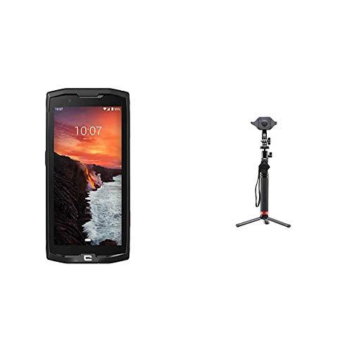 Crosscall Core-X4 Smartphone + X-Stick Teleskopstange Schwarz
