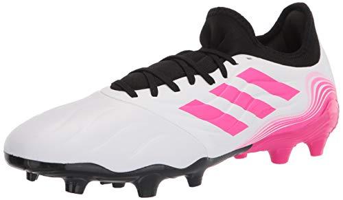 adidas mens Copa Sense.3 Firm Ground Soccer Shoe, White/Shock Pink/Black, 11.5 US