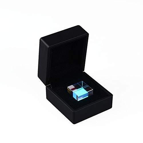 NUJA 1 st 20 x 20 x 20 mm kub med ljuskub en gåva från optisk vetenskap prisma kreativa ornament