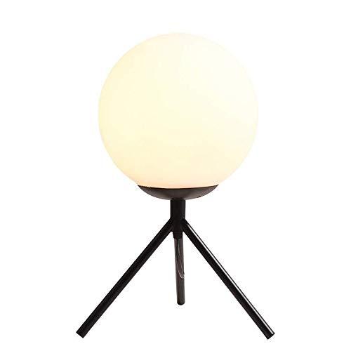 CHENJIA Linterna de noche nórdica Oficina E27 bola del globo lámpara de mesa creativa moderna del hogar Iluminación lámpara de escritorio de lectura Estudio decorativo de iluminación Lámparas de sobre