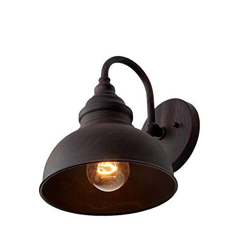 Vintage Industrie Wandleuchte Außen-Lampe Aluminium Lampenschirm Wasserdicht IP23 Aussen-Wandlampe E27 Antik Gartenlampe Pavillon Balkon Cafe Eingang-Beleuchtung