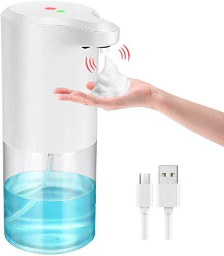 Seifenspender Automatisch 330ml, Macrimo Automatischer Schäumende Seifenspender mit Sensor Infrarot für Küche, Bad, Büro,WC
