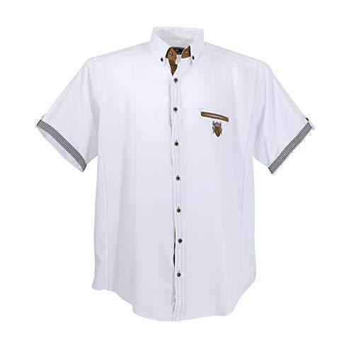 Sportivo da Uomo a Maniche Corte Camicia di Lave cchia in Taglia Grossa Bianco Bianco