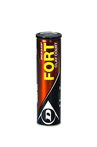 Dunlop Fort Clay Court Tin Tube of 4 Tennis Balls by