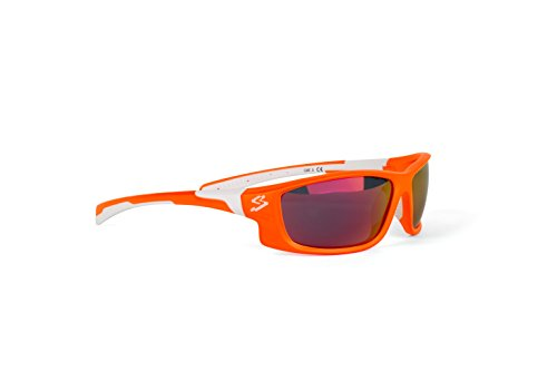 Spiuk Spicy - Gafas de Ciclismo Unisex, Color Naranja Mate/Blanco