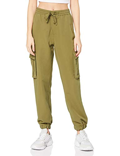 Urban Classics Hose Ladies Viscose Twill Cargo Pants Pantaloni Eleganti, Summerolive, XS Donna
