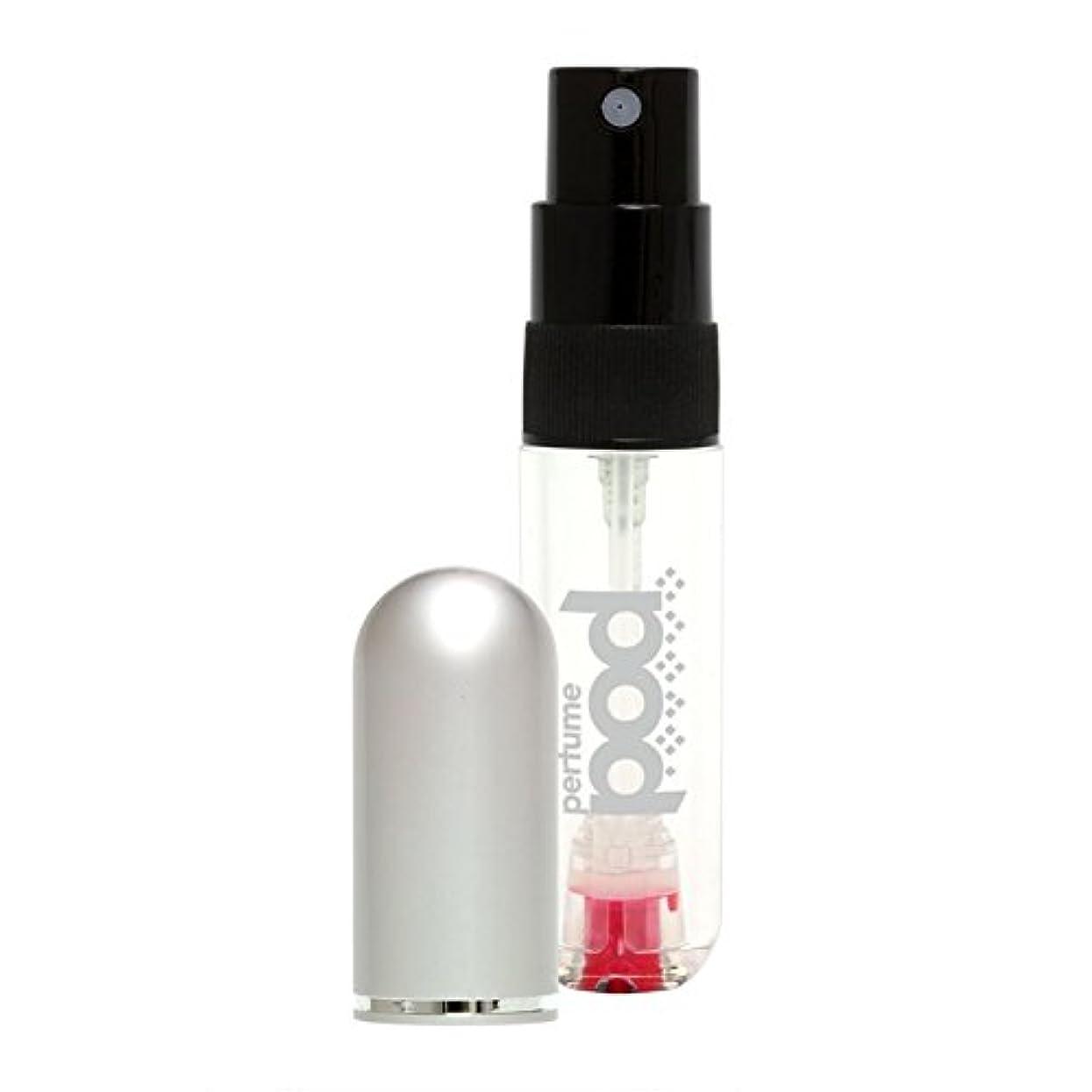 ペレット爆発いいねTravalo Perfume Pod トラヴァーロ パフュームポッド 香水 10秒チャージ 香水 スプレー 香水 アトマイザー 香水 ボトル 香水 携帯 (シルバー)