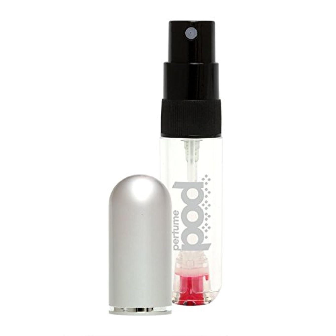 相手ルーム不機嫌Travalo Perfume Pod トラヴァーロ パフュームポッド 香水 10秒チャージ 香水 スプレー 香水 アトマイザー 香水 ボトル 香水 携帯 (シルバー)