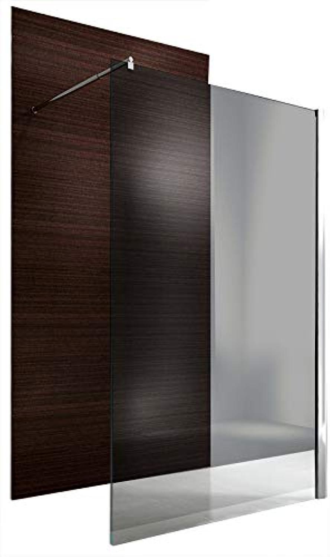 Duschabtrennung Walk-In Nano Echtglas EX101 - graues Glas - Breite whlbar, Breite Walk-In 1400mm