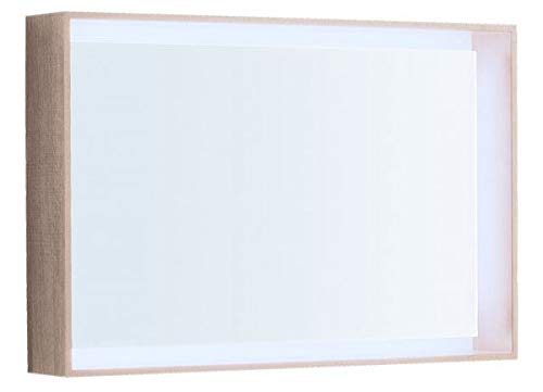 Keramag Geberit Citterio Lichtspiegel 500572JI1, 88,4x58,4x14cm, Holzstruktur Eiche beige