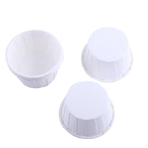 Cupcake Wrapper, Haofy 100 Stück Mini Muffin Papierförmchen, Klein Papier Backbecher für Cupcake/Kuchen/Schokoladen/Candy/Muffin, für Hochzeit, Geburtstag, Party (Reines Weiß)