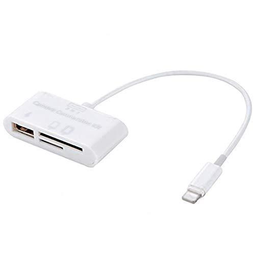 PRINDIY - Lector de Tarjetas 3 en 1 (USB OTG, Adaptador para Tablets, iPad 4 Mini, Lector de Tarjetas)