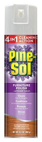 Pine-Sol Furniture Polish | Wood Furniture Polish Spray | A Powerful Clean You Can Trust | 12.7 Ounces, Lavender Scent