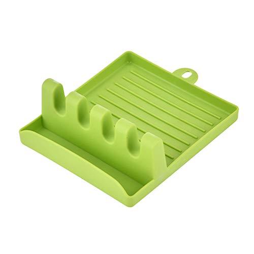 Raburt Kitchen Racks Spoon Chopsticks Pot Cover Spatula Storage Mat Home Multi-Function Plastic Spatula Shelf