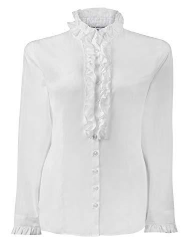 Stockerpoint Damen Bluse Emilia Trachtenbluse, Weiß (Weiss Weiss), (Herstellergröße: 42)