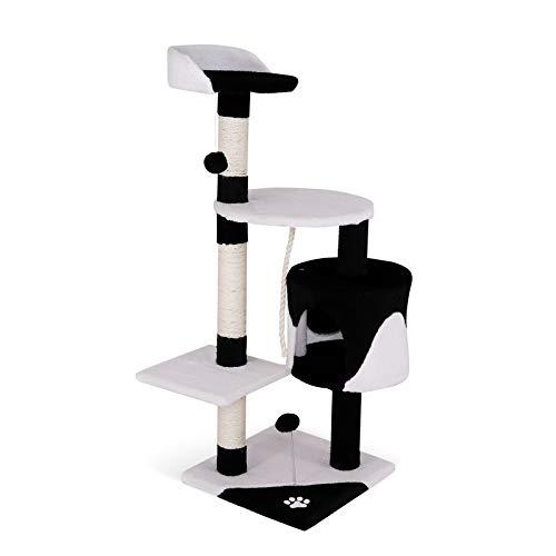 dibea Griffoir pour Chats, 112 cm Noir-Blanc