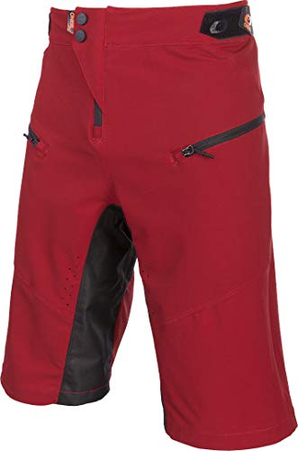 O'Neal | Pantalones de Ciclismo de montaña | MTB Mountain Bike DH Downhill FR Freeride | Respirables, Ventilación por Láser, Corte Activo | Pin It Shorts | Adultos | Naranja Roja | Talla 34/50