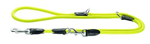 HUNTER Freestyle Verstellbare Führleine für Hunde, robust, wetterfest, 1,0/200 cm, neongelb