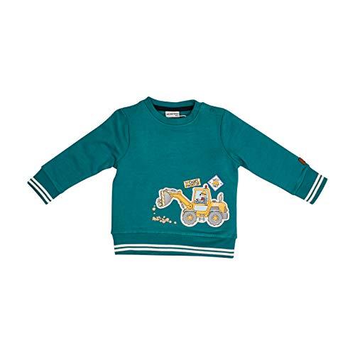 Salt & Pepper Baby-Jungen 05211100 Sweatshirt, Pine Green, 92