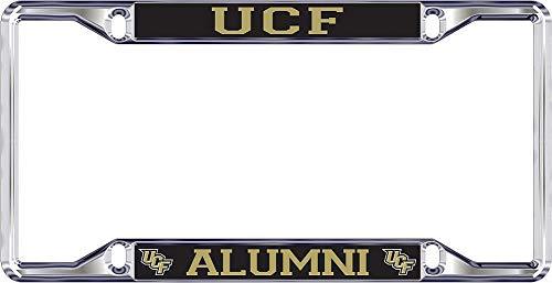Elite Fan Shop UCF Knights License Plate Frame Alumni - Silver