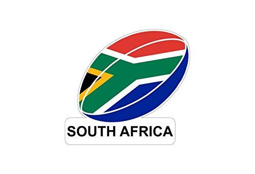 Akachafactory Aufkleber für Auto, Motorrad, Motiv: Flagge des Ballons, Rugby Südafrika