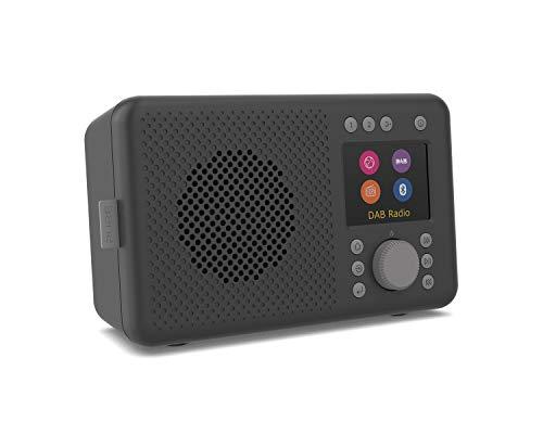 Pure Elan Connect All-In-One Internetradio mit DAB und Bluetooth 5.0 (DAB/DAB+ Digital Radio, UKW Radio, Internetradio, TFT Farbdisplay, 20 Senderspeicher, Batterie Betrieb möglich), Charcoal
