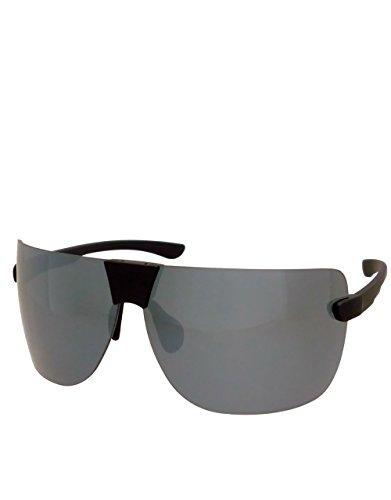 T1 Style Sonnenbrille, randloses Gestell, Smoke Mirror Lens