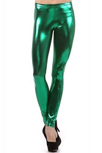 Liquid Wet Look Shiny Metallic Stretch Leggings - Many Colors - Up to 2XL