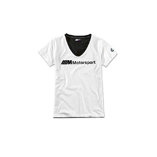 BMW M Motorsport T-Shirt Damen Logo weiß/schwarz Größe M