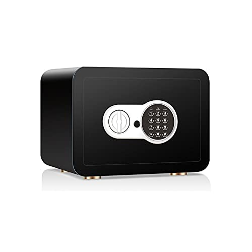 DJDLLZY Caja Fuerte  35X25X25Cm Digital Lock Caja Fuerte  Inicio Acero de la combinación de Seguridad electrónica con Teclado  Teclas de modificación manuales  para el hogar, Viajes de Negocios o