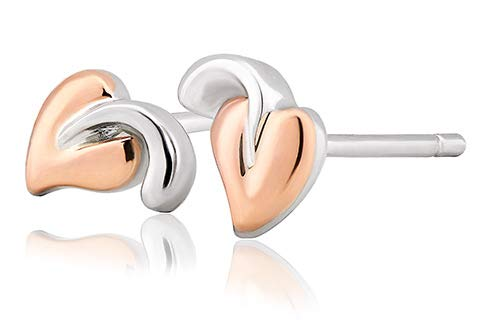 Clogau Tree of Life Stud Earrings in Sterling Silver and 9ct Rose Gold