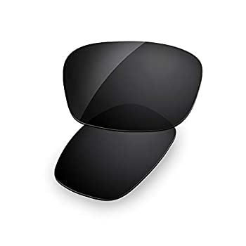 Dynamix Polarized Replacement Lenses for Oakley Fives Squared  Solid Black Polarized Enhanced