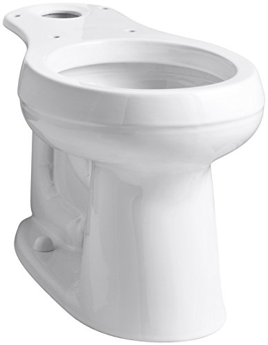 "KOHLER 4829-0 Cimarron Comfort Height Round-Front Toilet Bowl with 10"" Rough-In, White"