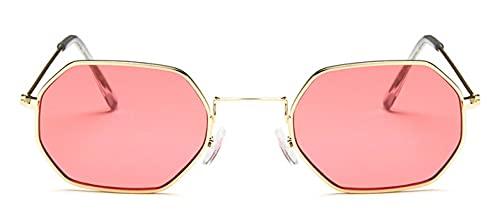 Gafas De Solseñoras Hexagonales SunglasseMetal Mujeres Diseñador De La Marca Moda Sin MonturaLentes Transparentes del Océano Gafas De SolUv40