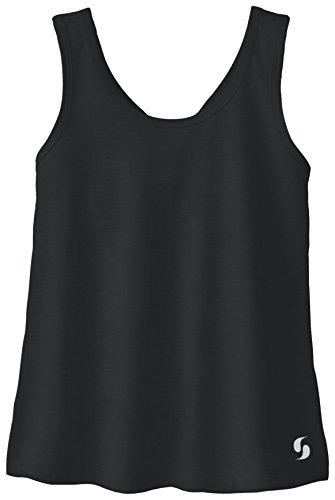 Soffe Girls' Big Dri Knotted Racerback Tank, Black, X-Large